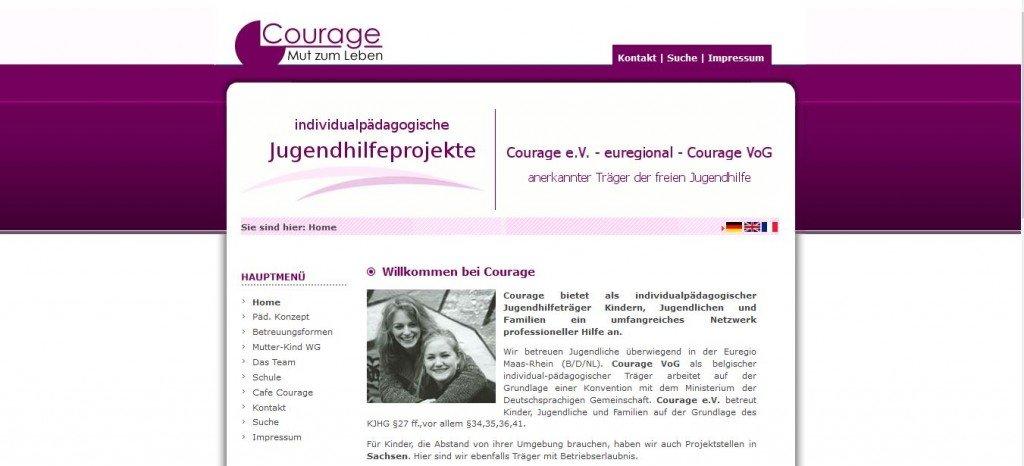 Courage Jugendhilfeprojekte